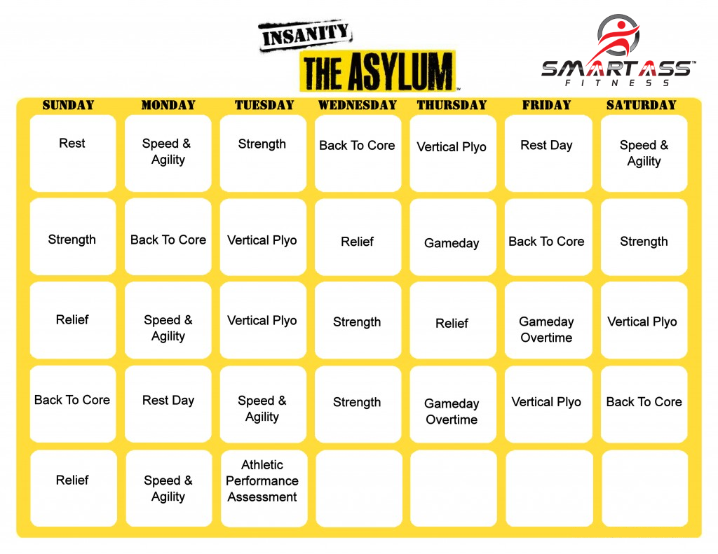 Insanity: The Asylum schedule